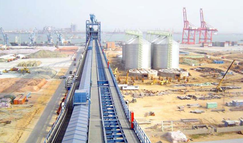 Air Supported Belt Conveyor for Rizhao Port Grain Storage