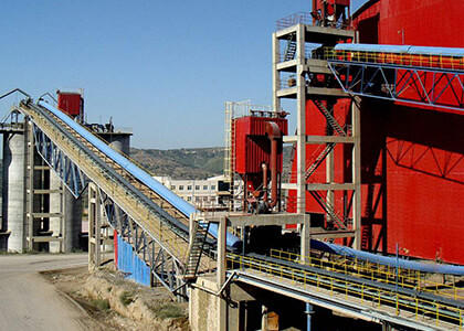 belt conveyor in cement plant