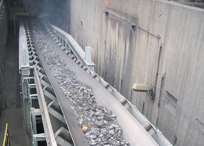 belt conveyor in iron ore