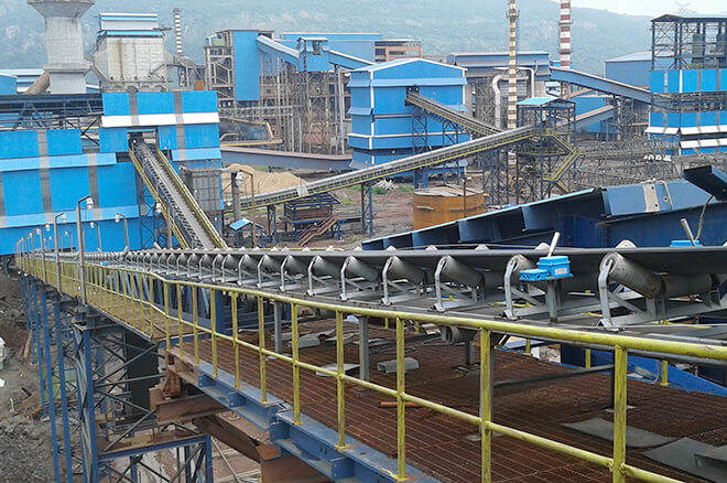 belt conveyor for iron steel plant