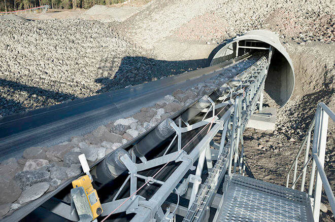 belt conveyor for mineral