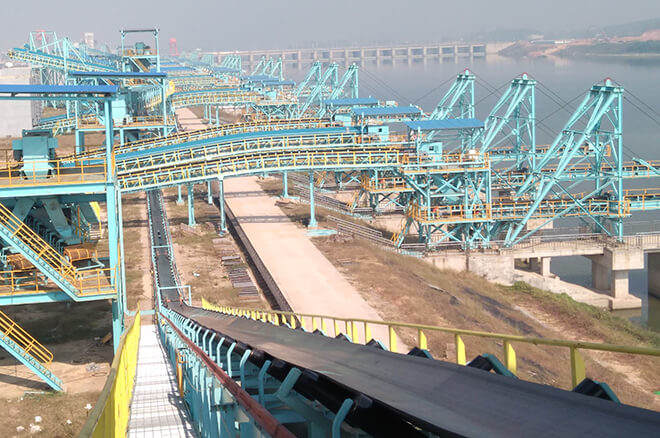 belt conveyor for port
