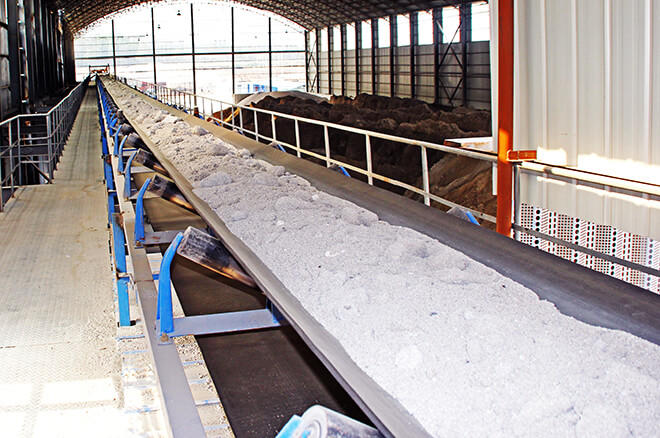 belt conveyor for sand