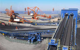 belt conveyor industry for port
