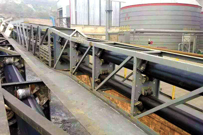 pipe conveyor for sand