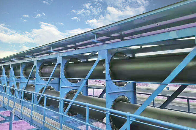 pipe conveyor for powder