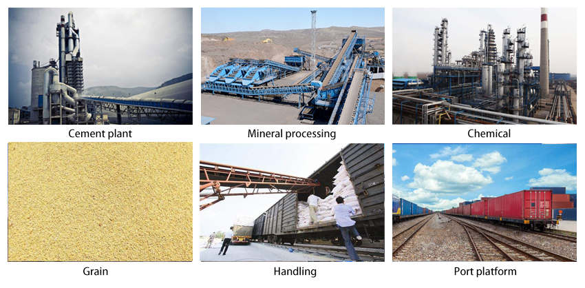 portable belt conveyor application industry