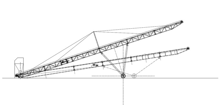 portable belt conveyor structure