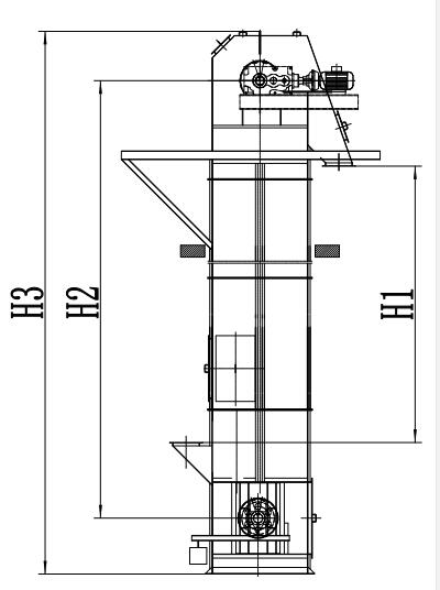 Central Chain Bucket Elevator Drawing