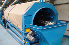 trommel screen for wood chip