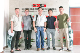 Malaysia clients visited EXCT for Palm Fibre treatment system