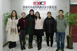Russian Customers visited EXCT for Silica Sand Belt Conveyor System Inspect